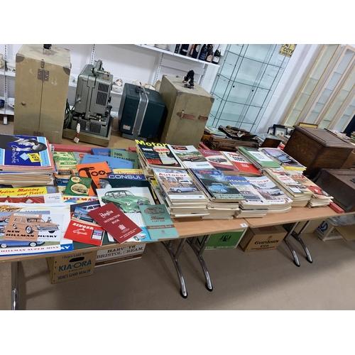 38 - A large selection of vintage motoring magazines and car ephemera