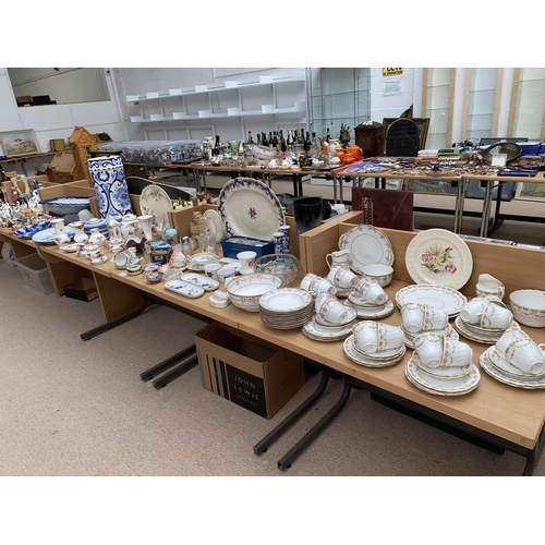 29 - A selection of mixed glass and china including Royal Doulton part dinner service, Royal Albert Old C...
