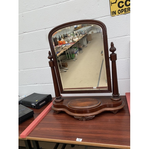 44 - An Edwardian mahogany dressing table mirror