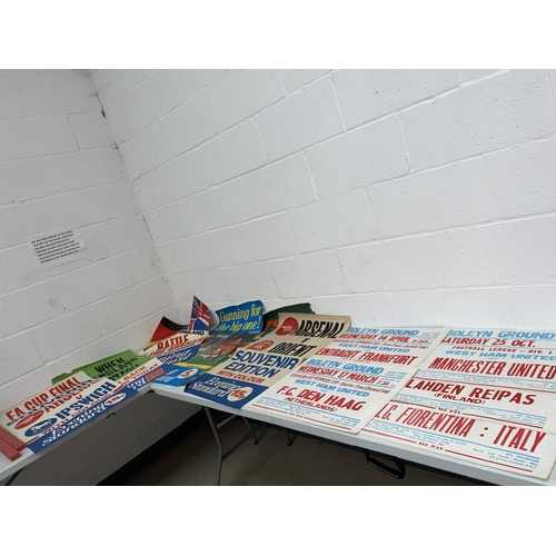 5 - A collection of football newsagent advertising posters including West Germany-V- England, Arsenal-V-...