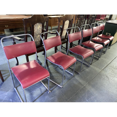83 - A set of six Du-Al stacking chairs