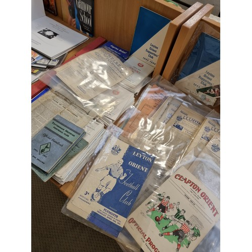9 - A large collection of vintage football programmes- 1920's onwards