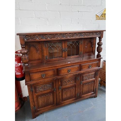 500 - An oak court cupboard