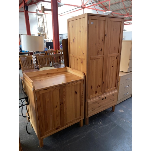 543 - Pine baby changing unit and wardrobe