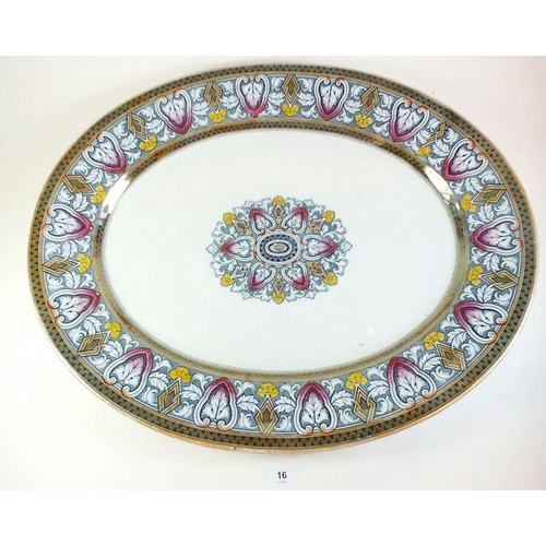 16 - A large 19thc Staffordshire meat platter - 58cm wide...