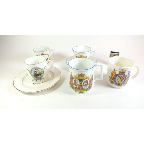 30 - A rare Shelley Lord Kitchener mug and various other Royal Commemorative china plus a Lord Kitchener ...