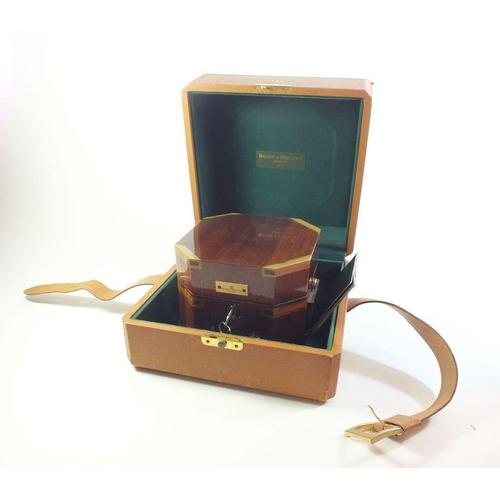 A Baume & Mercier marine chronometer boxed, quartz with sales receipt, service recently, with keys