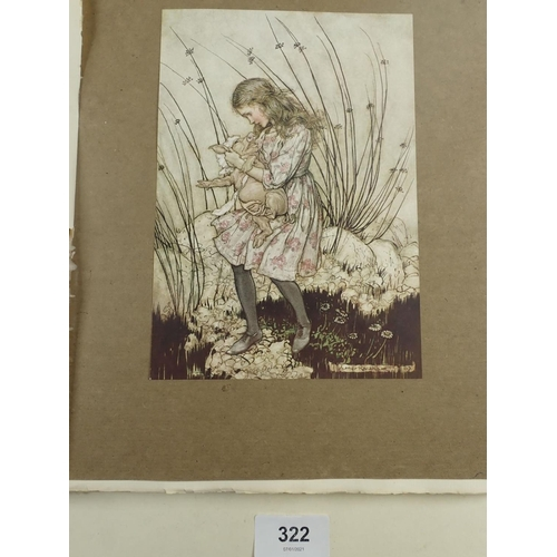 322 - Alice's Adventures in Wonderland - limited edition illustrated by Arthur Rackham, thirteen colour pl...