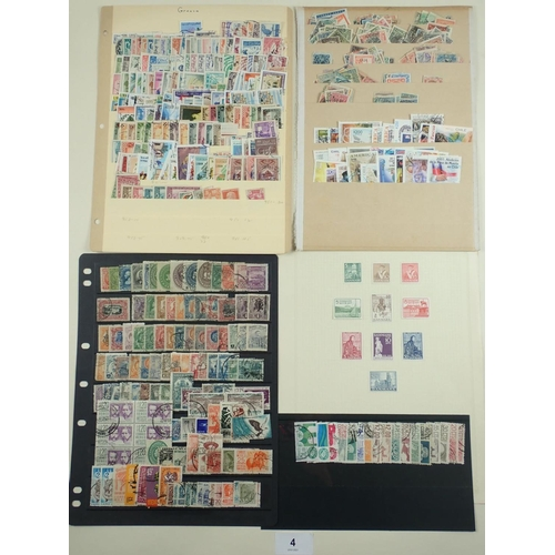 4 - All world mint & used stamp accumulation on album and stock-sheet pages. Incl numerous mini-sheets, ...