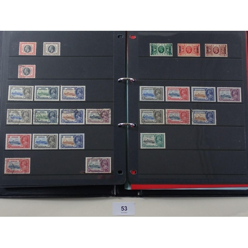 53 - KGV 1935 Silver Jubilee omnibus collection in black folder with numerous complete mint & used sets a...