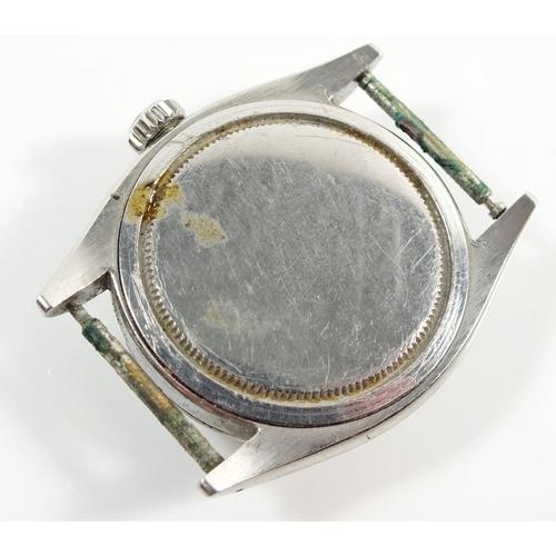 818 - A Rolex Oyster Precision gentleman's vintage wrist watch in steel case - this watch is not in workin...