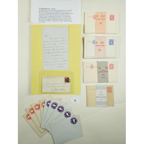 9 - QV 1d Red (Perf 16, blue paper) Athenaeum Club entire containing signed letter of Sir David Brewster...