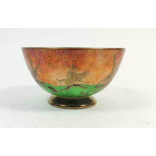 154 - A Wedgwood Fairyland Lustre small bowl, painted fairies at play to interior and exterior, No. 25360,...