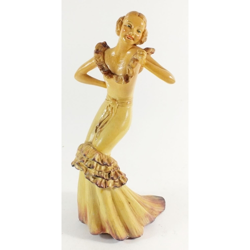 20 - A Wade figurine of a woman in evening dress 'Cherry'