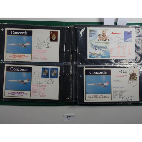 223 - Concorde: Major collection of some 500 covers in 6 volumes, c.100 signed, from 1973 pre-commercial f...
