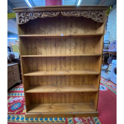 4 - Pine bookcase adorned with grapes and leaves