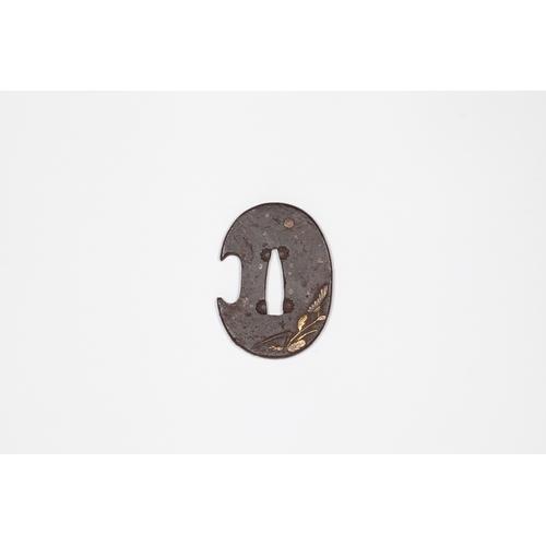 15 - Japanese Tanto tsuba, 19th century Title: Tanto tsubaDate: 19th centurySize: 5.2 x 3.6 x 0.5 cmRe...