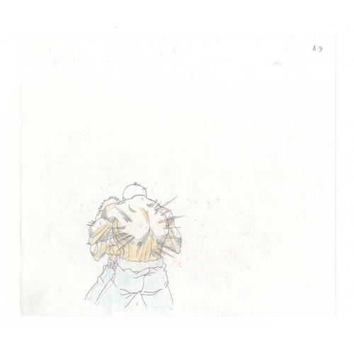 4 - Original Anime Cel with 2 Sketches Series: Hajime no Ippo(Fighting Spirit, Ippo) Production Studio: ...