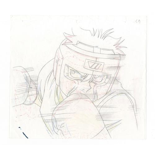 6 - Original Anime Cel with Sketch Series: Hajime no Ippo(Fighting Spirit, Ippo) Character: Takeshi Send...
