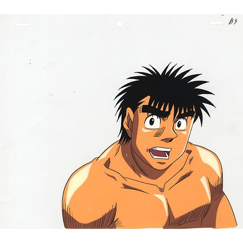 9 - Original Anime Cel with Sketch Series: Hajime no Ippo(Fighting Spirit, Ippo) Character: Ippo Makunou...