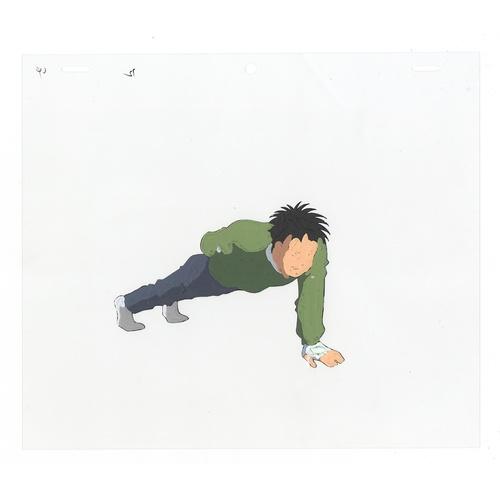 12 - Original Anime Cel with Sketch Series: Hajime no Ippo(Fighting Spirit, Ippo) Character: Ippo Makunou...