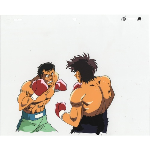 13 - Original Anime Cel with Sketch Series: Hajime no Ippo(Fighting Spirit, Ippo) Production Studio: Madh...