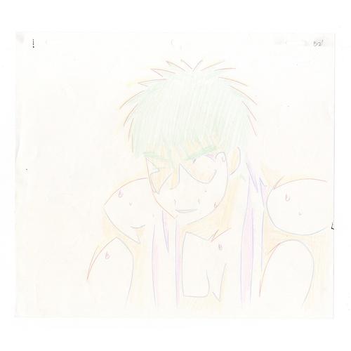 16 - Original Anime Cel with Sketch Series: Hajime no Ippo(Fighting Spirit, Ippo) Character: Ippo Makunou...