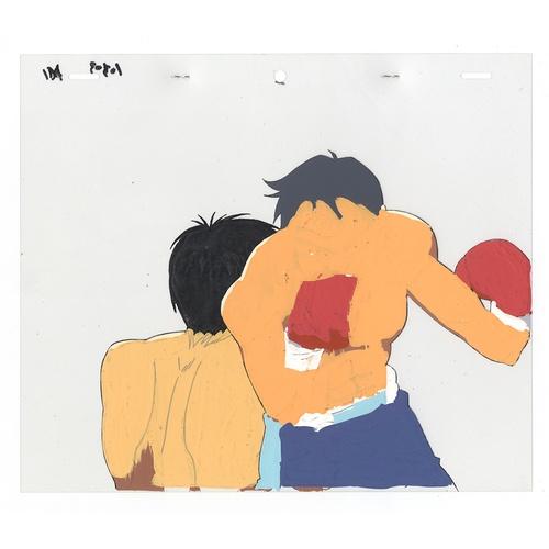 17 - Original Anime Cel with 2 Sketches Series: Hajime no Ippo(Fighting Spirit, Ippo) Character: Ichiro M...