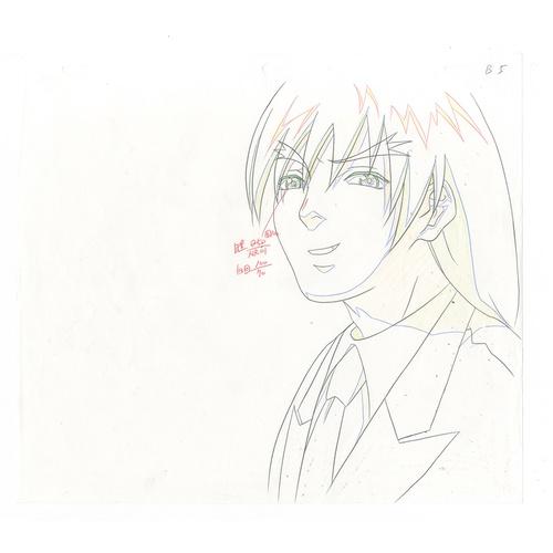 19 - Original Anime Cel with Sketch Animation series: Street Fighter Alpha: The Animation (Street Fighter...