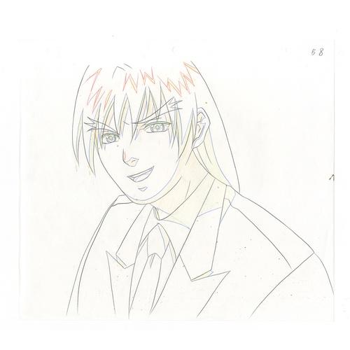 20 - Original Anime Cel with Sketch Animation series: Street Fighter Alpha: The Animation (Street Fighter...