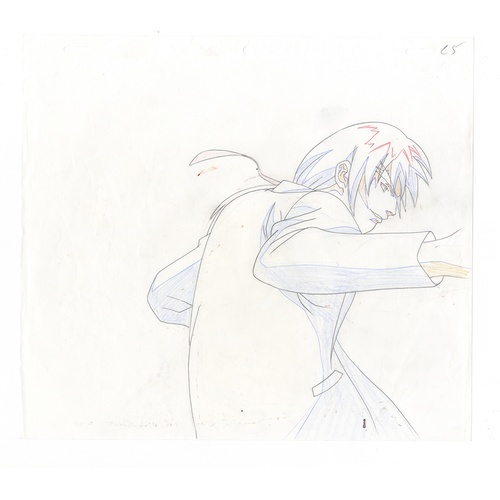 21 - Original Anime Cel with Sketch Animation series: Street Fighter Alpha: The Animation (Street Fighter...