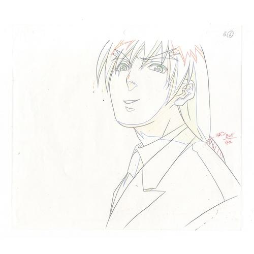 22 - Original Anime Cel with Sketch Animation series: Street Fighter Alpha: The Animation (Street Fighter...
