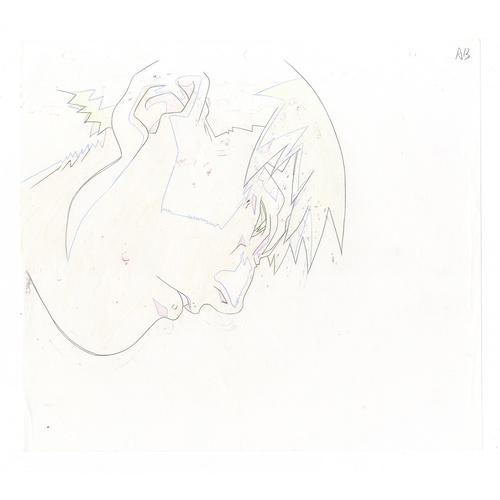 26 - Original Anime Cel with Sketch Animation series: Street Fighter Alpha: The Animation (Street Fighter...