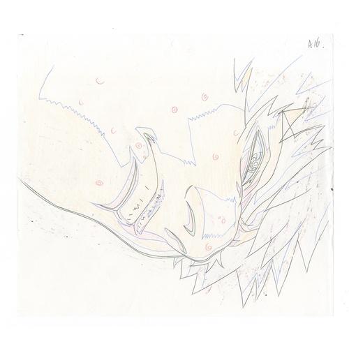 27 - Original Anime Cel with Sketch Animation series: Street Fighter Alpha: The Animation (Street Fighter...