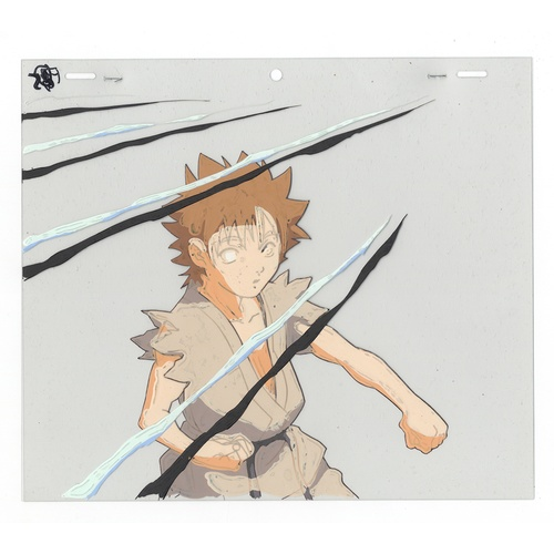 28 - Original Anime Cel with 4 Sketches Animation series: Street Fighter Alpha: The Animation (Street Fig...