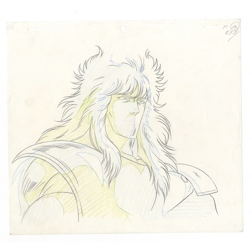 30 - Original Anime Cel with Background and Sketch Animation series: Fist of the North Star (Hokuto no Ke...