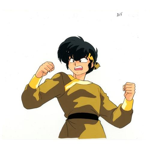 37 - Original Anime Cel with Sketch Animation series: Ranma 1/2  Characters: Ryoga Hibiki (Roland Mathieu...