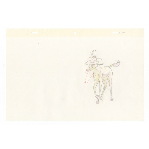 45 - Original Anime 3 Cels with 3 Sketches Animation series: Kimba the White Lion (Jungle Emperor Leo, Le...