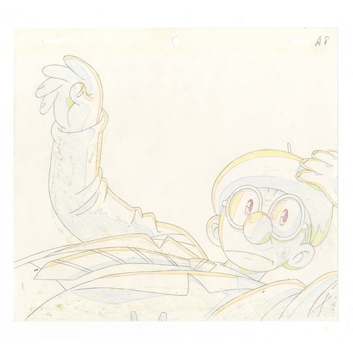 47 - Original Anime Cel with Sketch Animation series: The Last Mystery of the 20th Century Character: Osa...