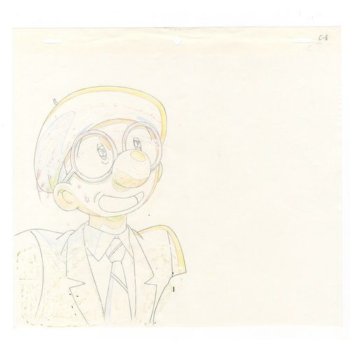 56 - Original Anime Cel with Sketch Animation series: The Last Mystery of the 20th Century  Character: Os...