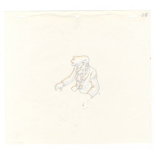 57 - Original Anime Cel with Sketch Animation series: The Last Mystery of the 20th Century  Character: Do...