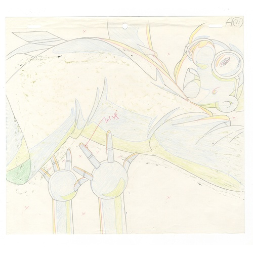 58 - Original Anime Cel with Sketch Animation series: The Last Mystery of the 20th Century  Character: Os...