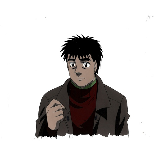 1 - Original Anime Cel with Sketch Series: Hajime no Ippo(Fighting Spirit, Ippo) Character: Ippo Makunou...