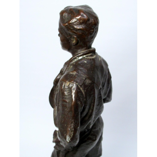 33 - ROBERT TAIT McKENZIE (CANADIAN, 1867-1938) BOY SCOUT, SIGNED AND DATED IN THE CASTING