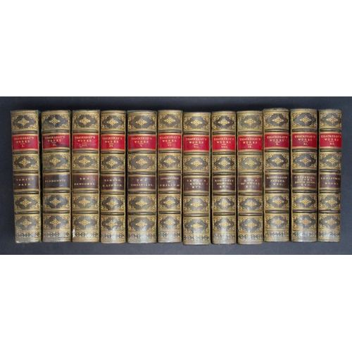 35 - A GOOD QUANTITY OF VICTORIAN LEATHER BOUND BOOKS, COMPRISING: SCOTT(WALTER) WAVERLEY NOVELS (PART SE...