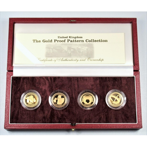 13 - GOLD PROOF ELIZABETH II PATTERN POUND COLLECTION, 2003 (4) No. 146, WITH C OF A, CASED AND BOXED....