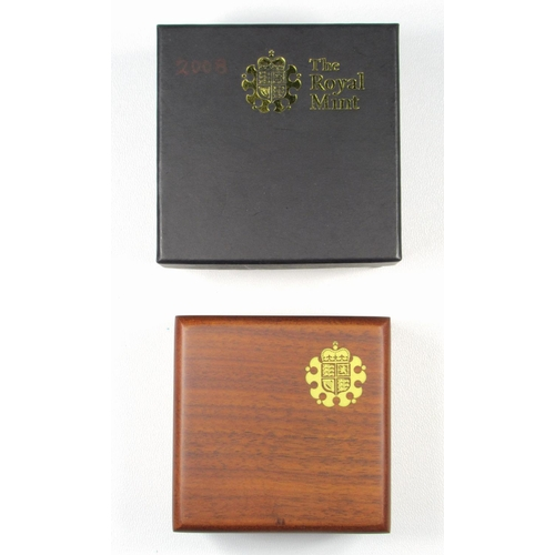 17 - GOLD PROOF ELIZABETH II ALDERNEY CONCORDE £1, 2008, No. 0403, WITH C OF A, CASED AND BOXED....