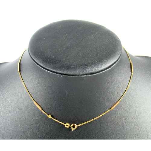 187 - TWO 9CT GOLD NECKLACES, PAIR OF CUFFLINKS AND ANOTHER CUFFLINK, 10.8 GRAMS (5)....