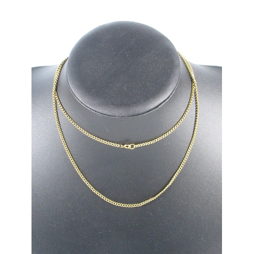 188 - 9CT GOLD CURB LINK NECKLACE, 12.3 GRAMS...