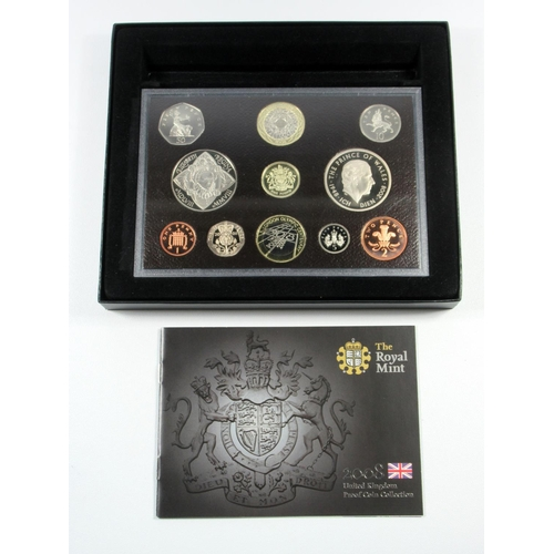 48 - SIX PROOF SETS OF COINS, 2006 - 08, (BOTH TYPES) 2010 - 11, WITH C OF A'S, CASED AND BOXED. (6)...